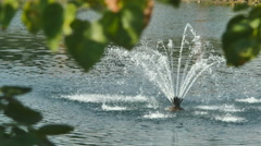 fountain water lake pond - stock footage