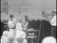 1930s Circus, Sideshow, Sword Swallower, Archival Footage Stock Footage