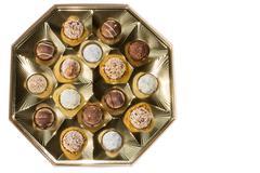 delicious chocolate pralines - stock photo
