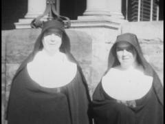Nuns, 1930s Archive Footage (two) Stock Footage