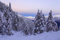The autumn snowy landscape, Casera Lake, Livrio Valley, Orobie Alps, Valtellina, Stock Photos