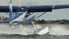 The Float Plane Takes Off Stock Footage