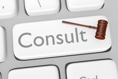 Legal Consult Button On Keyboard Stock Illustration
