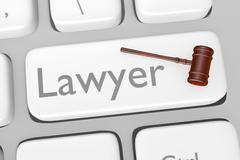 Legal Consult Button On Keyboard - stock illustration