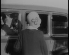 1930s Car & Family Archive Footage Stock Footage