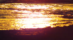 The sunset reflection at Dor Beach shot in Israel at 4k Stock Footage