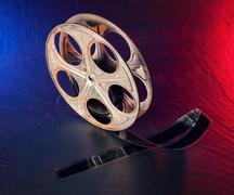 Old motion picture film reel Stock Photos
