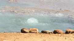 Hot springs at Lake Bogoria Stock Footage
