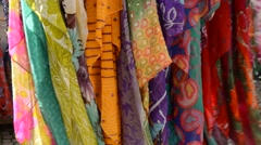 Colorful scarves streaming in the wind Stock Footage