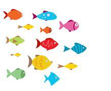 Aquarium Fishes - stock illustration