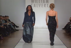 Fashion models walking on runway for William Calvert Collection Stock Footage
