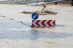 Stock Photo of Flooded street