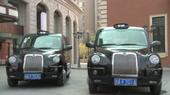 VIP London taxi, Chinese hotel, China Stock Footage