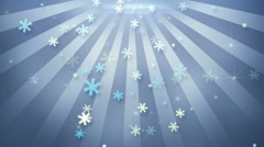 Snowflake shapes falling in circular rays loopable animation 4k (4096x2304) Stock Footage