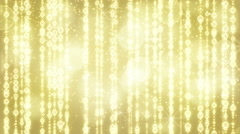 Bright golden christmas beads seamless loop Stock Footage