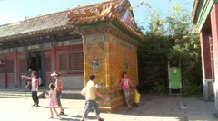 Imperial residences, Forbidden City palace - stock footage