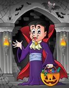 Halloween vampire theme image - eps10 vector illustration. Piirros