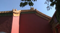 Forbidden City door, Chinese palace, Beijing Stock Footage
