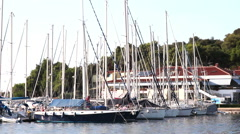 VRSAR, ISTRIA - AUG. 2015. Coast Boats 2 - stock footage