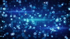 Glow snowflakes falling seamless loop animation 4k (4096x2304) Stock Footage