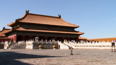 Stock Video Footage of Forbidden City, Palace of Heavenly Purity