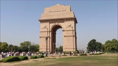 India Gate, Time lapse, New Delhi, India Stock Footage