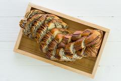 Stock Photo of Marble bread to be eaten with coffee for breakfast.