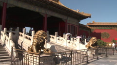 Gate of Heavenly Purity, Forbidden City - stock footage