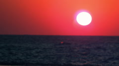 Royalty Free Stock Video Footage of a sunset and waves at Dor Beach shot in - stock footage