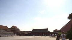 Forbidden City courtyard, Imperial Hall Stock Footage
