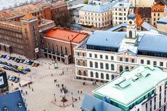 Cityscape of Riga Stock Photos