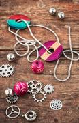 accessories for needlework - stock photo