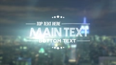 City Lights Title - After Effects Template Stock After Effects