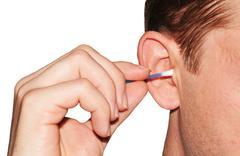 Ear hygiene Stock Photos