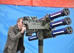 Artillery gun - stock photo