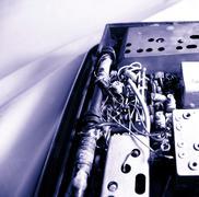 Old transistor radio Stock Photos