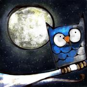 The Night Owl Stock Illustration