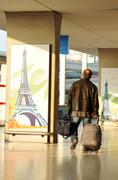 Charles de Gaulle airport in Paris Stock Photos