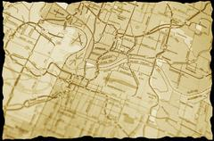 Vintage map Stock Photos