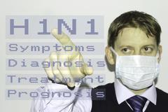 H1N1 bird flu - stock illustration