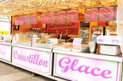 Ice cream shop in Paris - stock photo