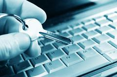 Internet data protection concept Stock Photos