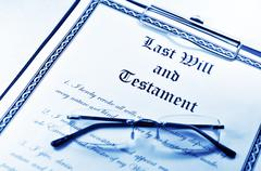 Last will and testament Stock Photos