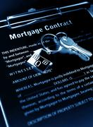 Stock Photo of Mortgage contract