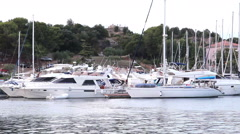 VRSAR, ISTRIA - AUG. 2015. Coast Boats - stock footage