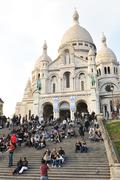 Sacre-Coeur Cathedral in Paris Stock Photos