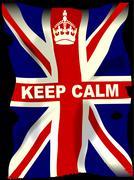 Keep Calm Union Jack Stock Illustration
