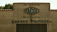 Urbex south france old garage detail Stock Footage