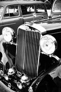 Sunbeam retro car closeup - stock photo