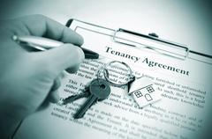 Tenancy agreement - stock photo